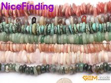 "3-13mm Natural Gemstone Freeform Potato Spacer Stone Beads Jewellery Making 15"""
