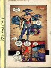 PROPHET #5 page 12 Color Acetate Separation Comic Art