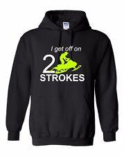 I GET OFF ON 2 STROKES Hoodie Ski-Doo Arctic Cat Polaris NEON yellow Sweatshirt