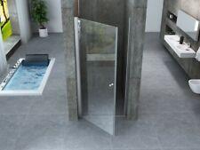 Cabine de douche Cristal 8 mm - niche  - porte battante ouverture vers l'extérie