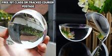 Cristal Esfera Cristal Papel Peso media & COMPLETO Esfera bola cuarzo LUPA