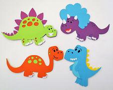 Cute Animals Dinosaurs Dino Set of 4 Die Cut Paper Scrapbook Embellishment