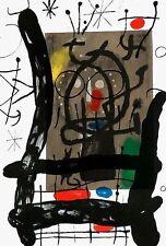 Joan Miro, 2 Original Lithographs, Peintures Sur Cartons M.377, Deluxe w/ Signed