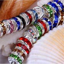 6mm Rhinestone Rondelle Spacer Beads AAAA Diamante Crystal Jewellery- HD079