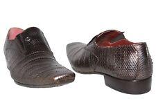 Jo Ghost 3604 Italian mens bronze leather slip on shoes
