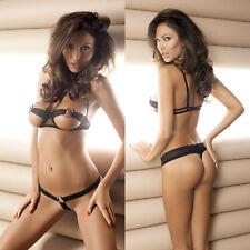 Ensemble sexy lingerie noir femme soutien gorge & string ANAIS CHLOE SET