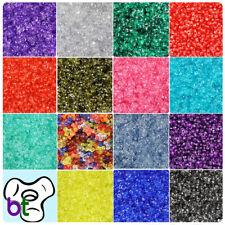 BeadTin Transparent 11mm TriBead Craft Beads (600pcs) - Color choice