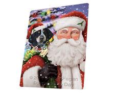 Jolly Saint Nick Santa Bluetick Coonhound Dog Woven Throw Sherpa Blanket T387