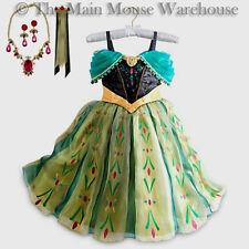 Disney Deluxe Anna Dress Halloween Costume Free Jewelry Accessories 5 6 7 8 9 10