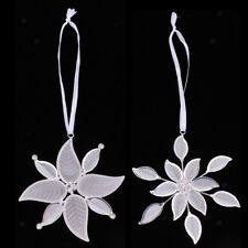 MagiDeal Filigree Crystal Snowflake Christmas Tree Ornament Hanging Pendant