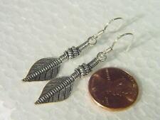 BUTW sterling silver feather hook ear rings 3340B