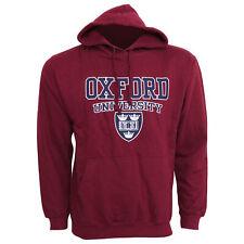 Mens Oxford University Print Hooded Sweatshirt Jumper/Hoodie Top