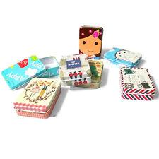 Mini Kawaii Cartoon Tin Metal Case  Storage Organizer For Jewelry Kids Toy SK