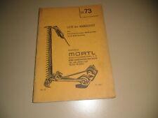 Ersatzteilkatalog Hochleistungs Mähwerk Mähbalken 1972