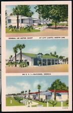 WAYCROSS GA General Lee Motor Court Cabin Motel Vtg Georgia Postcard Old Linen