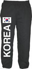 La Corée en survêtement-Avec Drapeau Pression-Taille M à XXL-Noir-Pantalon Sweatpants