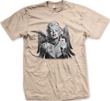Marilyn Angel Wings Card Ace Hearts Tattoos Love Poker Sexy Lips Men's T-Shirt