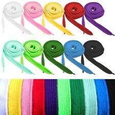 1 Par Cordones Cuerdas ancho planos elástico de los sneaker zapatos atléticos