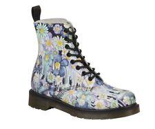 Dr.Martens Schuhe 8 Loch Damen Stiefel Blumenmuster Pascal Exklusiv Design