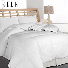 Elle Pinstripe Microfiber Cover Down Comforter 600 Fill Power