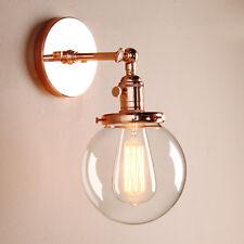 Retro Industrielle Globus Klarglas Schatten Sconce Loft Bar Rustikale Wandlampe