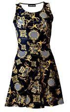 Baroque Floral Damask Harlequin Paisley Chain Scarf Print Vintage Skater Dress