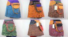 Retro Mini Skirt Festival Psy Trance Rave Hippie 1 size Fanny Bag Fairtrade S16