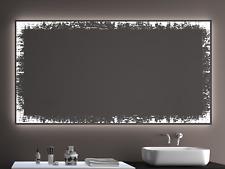 Badspiegel LD401 mit LED Beleuchtung Badezimmerspiegel Spiegel Wandspiegel Maß