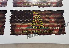 Distressed American Gadsden Flag Vinyl Decal Sticker USA  patriot United States