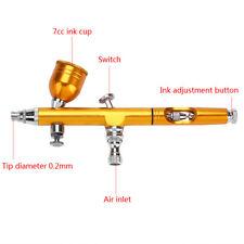 Dual Action Air Brush Gravity Feed 0.2mm Airbrush Paint Spray Gun Kit For Paint