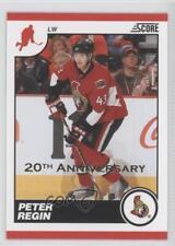 2010-11 Score 20th Anniversary #344 Peter Regin Ottawa Senators Hockey Card