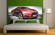 Carta dipinto testata del letto Auto sportiva 3649 Art déco Adesivi