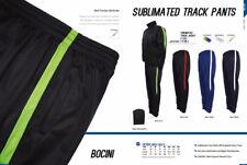 Unisex Adults Sublimated Track Pants  Gradated Colour Panel & Zipper Opening hem