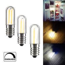 Mini Dimmable E14 E12 LED Fridge Freezer Filament Light COB Bulbs 2W 4W Lamp RD