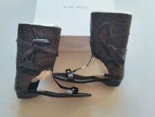 NINE WEST Stiefel Sandalen schwarz Leder Gr.39 und 39,5**UK6+6,5**NEU