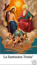 SANTINO HOLY CARD TELA CANVAS LA SANTISSIMA TRINITA'