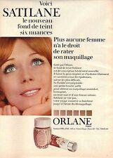 PUBLICITE 1969  ORLANE voici SATILANE le nouveau fond de teint