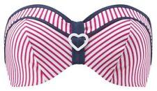 CLEO by PANACHE Lucille Bandeau Bikini Top Strawberry SWIMWEAR Size 30D NEW