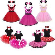 Girls Halloween Princess Dress Toddler kids Polka Dots Bowknot Party Set Costume