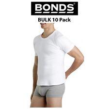 Mens Bonds Original Raglan Crew BULK 10 PACK Tee T-Shirt Short Sleeve Top M9372W