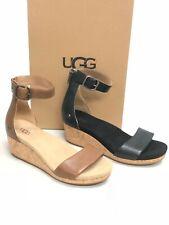 UGG Australia Women's Zoe II Leather Open Toe Wedge Sandal 1102674 Shoes