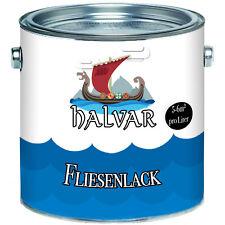 Halvar skandinavischer 2k Fliesenlack Schwarz 2-K Fliesenfarbe glänzend TOP!