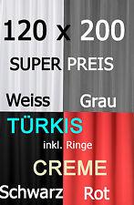 Duschvorhang Textil 120 x 200 Grau Creme Türkis Weiss Schwarz Rot inkl. Ringe