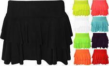 Womens Ladies Girls Neon RARA Mini Short Skirt Dance Club Women Skirts Size 8-14