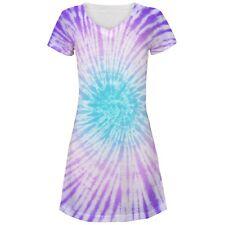 Dead Head Tie Dye All Over Juniors Beach Cover Up Dress