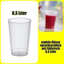 Trinkbecher unzerbrechlich Mehrweg 0,3 Liter transluzent PP