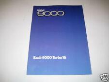 Prospekt Saab 9000 Turbo 16 V von 1984