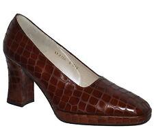 Criatura Imitación Cocodrilo Grueso Tacón Alto Tribunal Zapatos elección del tamaño de Color Nuevo en Caja SP £ 110