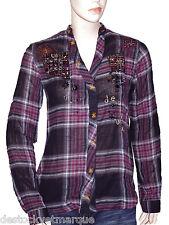 DESIGUAL chemise TUNIQUE CAM COWBOY femme carreaux taille S