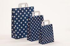 250 Papiertragetaschen Sterne Stars blau blue Papiertüten Tüten Tragetaschen